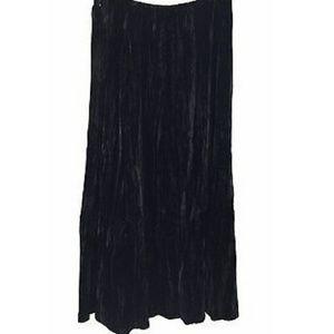 J. Jill Skirts - J. Jill Silk Velvet Long Skirt